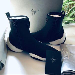GIUSEPPE ZANOTTI Black Sock Sneaker - NEW